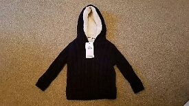 Marks and Spencer knitted hoody with tag