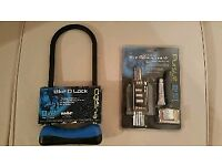 BRAND NEW Cycling Accessories 30 Piece Tool & Repair Kit + D Lock.