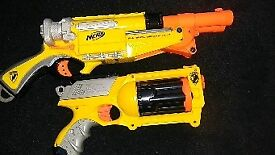2 nerf guns with bullets
