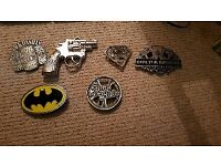 Selection of belt buckles