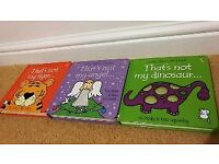 That's not my... 3 book set