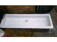 Extra long garden sink for planting, container, plant pot