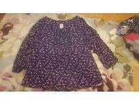 Ladies Mantaray tunic blouse size 16