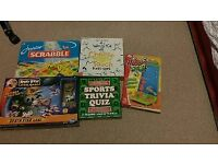 5 family games including angry birds and scrabble.