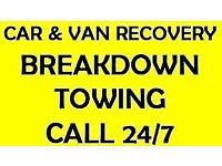 TOW SERVICE LONDON 24/7 CAR RECOVERY VAN BREAKDOWN TRUCKS ROADSIDE ASSISTANCE TRANSPORTER VEHICLE
