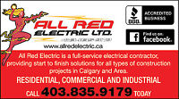 ALL RED ELECTRIC LTD. 2 YEAR WARRANTY, Master Electrician's