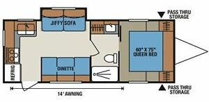 Super Fall Price - Rear Kitchen Layout witPower Slide and Awning