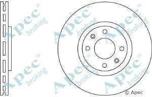 Apec Braking OE Quality Replacement Single Brake Disc Disk - DSK2573