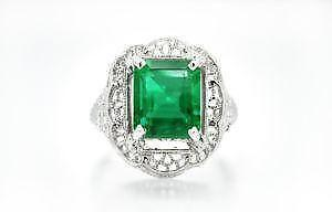 Emerald ring ebay colombian emerald rings aloadofball Image collections
