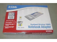 Job lot of 50 D-Link DWL-AG660 Air Premier Dual Band Wireless notebook adaptors,new and still sealed