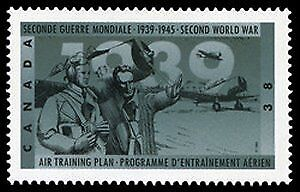 Block of 4 Canadian stamps, never hinged, 1989 WW2 commemorative