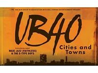 UB40 tickets Tuesday Newport