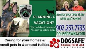 HouseHawks House and Pet Sitting in & around Halifax
