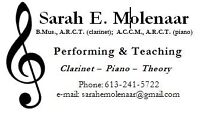 Piano, Clarinet, and Music Theory lessons in Lowertown