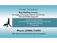 John's dog walking service - Retired lifelong dog lover so available any day