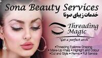 Teeth whitening 59$/Threading Eyebrow/massage/facial/waxing/kera