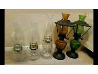 Set of oil lanterns