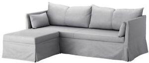 IKEA SANDBACKEN Corner Sofa Lit COVER in Grey - NEW
