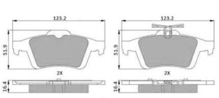CITROEN FORD REAR BRAKE PADS C5 FOCUS MK 2 3 C MAX MPV LCV TRANSIT CONNECT VAN