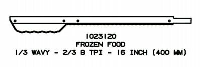 16 Frozen Food Replacement Blade For Jarvis Wellsaw 400 404 420 424 444 -