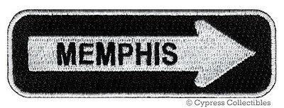 MEMPHIS ROAD SIGN BIKER PATCH embroidered iron-on MOTORCYCLE VEST EMBLEM new
