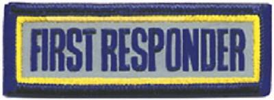 First Responder Rectangular Patch - Reflective