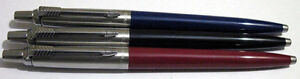 set of 3 blue black red Parker jotter ball point pen wholesale lot new no box
