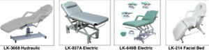 Facial Beds, Eletric Beds, hydrulic bed , Stools, Trolley, Lamps