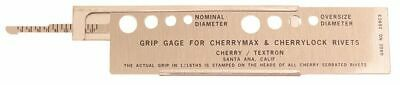 Cherry Lock And Cherry Max Rivet Grip Gauge With Slide Rule 269c3 - New