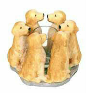 Circle of Golden Retrievers, Goldens candleholder, Golden votive