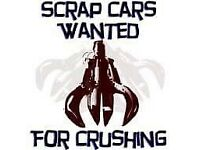 SCRAP CARS AND VANS WANTED BEST PRICES PAID