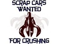 Scrap cars and vans wanted cash for cars scrap my car Bmw Mercedes Audi x5 all cars wanted