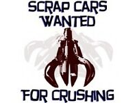 WANTED - CARS.....VANS..SCRAP......FAILURE.....NON RUNNERS......CRASHED DAMAGED......CASH SAME DAY.