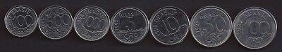 Usado, BRAZIL 100 Cruzeiros-100 CR$ 1992-93, 7 pc coin set UNC comprar usado  Enviando para Brazil
