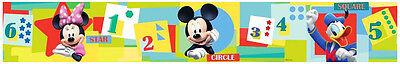 Bordüre Disney Mickey Mouse Minnie Mouse Donald Duck Tapeten Borte Zahlen Sterne