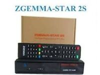 NEW ZGEMMA STAR 2S TWIN TUNER SATELLITE SYSTEM WITH GIFTS