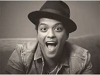 BRUNO MARS - 2 X EARLY ENTRANCE STANDING TICKETS, COST PRICE!! - LONDON 02 ARENA - 19TH APRIL 2017