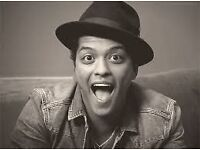 BRUNO MARS - 2 X STANDING TICKETS - WEDNESDAY 19TH APRIL 2017
