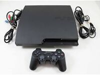 PS3 slim with games including 2x buzz games including buzzers and 2 controller
