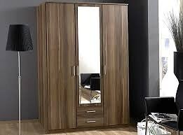 SAME DAY DELIVERY *** OSAKA 3 / 4 DOOR WARDROBE AVAILABLE IN WALNUT & WHITE COLOR - SAME DAY