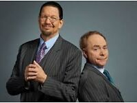2x Penn and Teller Tickets Sunday 25th stalls seats row W