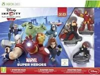 Wanted Disney Infiniti Marvel Starter Pack And Characters. XBOX 360