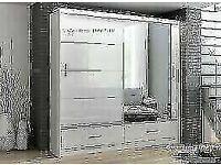 DESIGNER FURNITURE-MARSYLIA 2&3 SLIDING DOORS MIRROR WARDROBE IN 208 &255 CM SIZE-CALL NOW