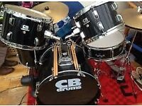 CB Drums 5 piece kit with 2 cymbals, hi-hat and drum stool . very good condition