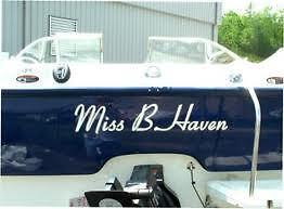 Custom Boat Names & Numbers