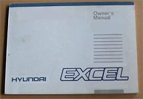 Hyundai Excel owners manual Moe Latrobe Valley Preview