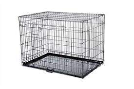 x large dog cage 45 inches long all folds down flat in vgc