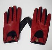 Mens Red Leather Gloves