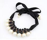 Black and White Pearl Necklace