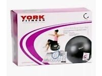 YORK FITNESS 65 CM ANTI BURST GYM BALL (3 Month RTB Warranty ) 60455